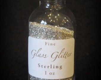 STERLING Glass Glitter From Germany by cheswickcompany