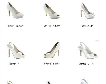 Wedding Shoes - Platform - Custom Shoes - Choose Your Shoe - Choose From Over 100 Colors - Bespoke Wedding Shoes - Dyeable Shoes - Parisxox