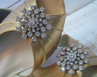 Winter Wedding - Snowflake - Christmas Wedding - Snowflake Shoe - Custom Shoes - Choose From Over 100 Colors - Gold Wedding Shoes - Parisxox