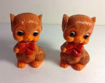 Vintage Orange Mice Salt and Pepper Shakers