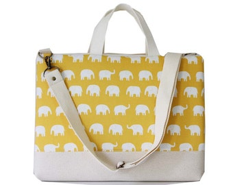 """13"""" Macbook or Laptop bag with handles and detachable shoulder strap -Ready to ship"""