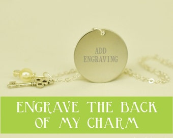 engraving add on --- engrave the other side of my charm please