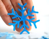Sale 24 Snowflakes Die cut - 24 Die Cut Felt, 2.0 inches, Christmas Snowflakes Value Pack A636