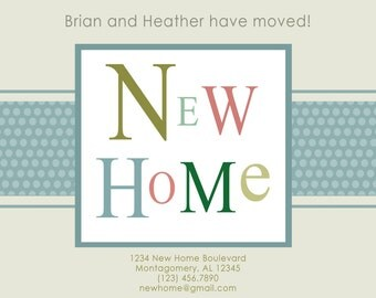 New Home Announcement