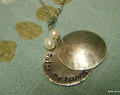 Hidden Message or Guide My Hands and Heart - Grads, Physician, Nurses Prayer Stamped Pendant