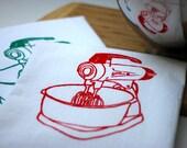 Kitschy Kitchen Retro Vintage Sunbeam Standmixer Tea-towel Orange  Mid Century Modern