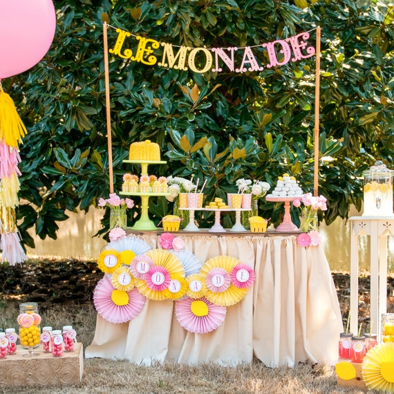 Pink Lemonade Stand Birthday Printable Party - Custom Package - SALE!