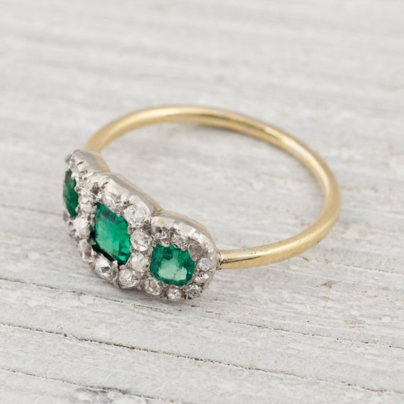 items similar to antique three and emerald