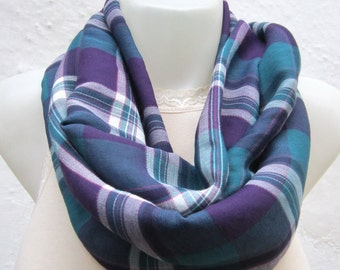 infinity scarf Loop scarf Neckwarmer Necklace scarf Fabric scarf  Purple Teal green White  women scarf mothers day
