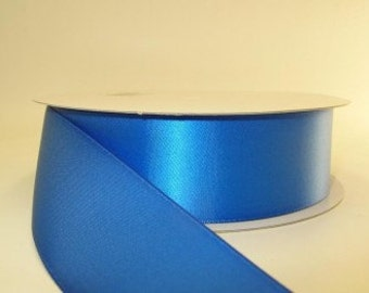 Royal Blue Ribbon double faced satin ribbon 1.5 inches, Wedding, Special Occasion, Crafts, DIY bridal 1 yard