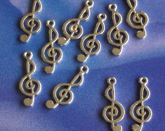 SALE, 10 Treble Clef Charms, reduced, was 1.50, now only 1 pound while stocks last
