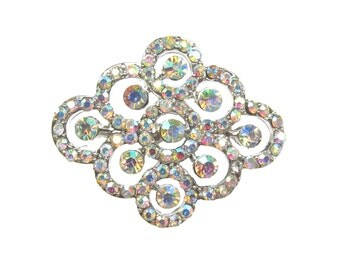 5 Crystal Rhinestone Buttons Constellation - Wedding Hair Accessories, Invitation Card, Shoe Clips, Bouquet Charm  RB-123 (34mm or 1.3inch)