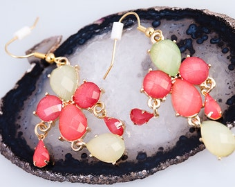 Melon Party Earrings Tear Drop Dangle Summer Cosplay Chic