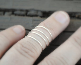 Wire Ring,Toe Ring, Knuckle Ring, Midi Ring, Wire Ring, Wire Ring Non Tarnish Silver Plated Wire