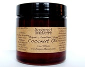 Organic Coconut Oil. Healthy Face and Body Moisturizer. Natural Hair, Eye Cream, Personal Lubricant, Vegan, Gluten Free