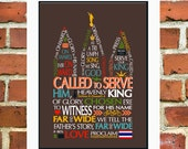 Printable Missionary Called To Serve Art Poster, Elder, Customized, Mission Personalized, 5x7, 8x10 11x14
