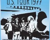 Led Zeppelin 1977 Tour Poster