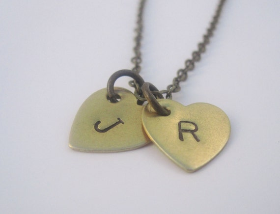 Mother's Day Gift Initial Necklace Heart Necklace Heart Jewelry Mother's Necklace Initial Jewelry Personalized Necklace Custom Initial