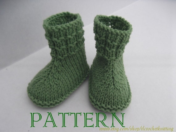 Crochet Pattern For Baby Shark Booties : Instant Download Knitting pattern PDF Simply Green Baby