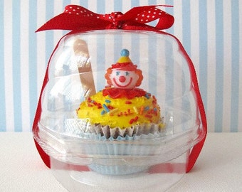 NEW LOW PRICE 12 Swirl Dome Cupcake Box Plastic Party Favor Birthday Baby Shower Wedding
