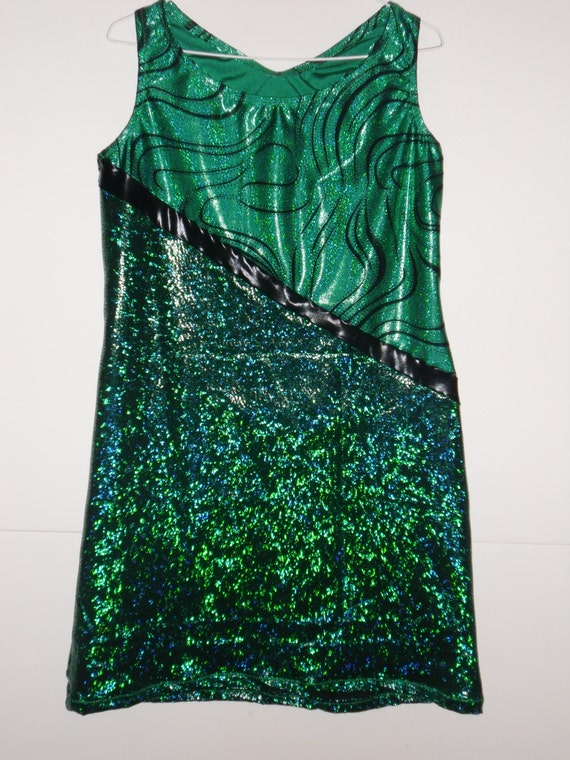 Green spandex running dress reserved for Natalie