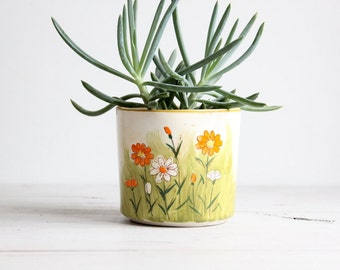 reserved for flaffytaffy vintage mid century flower planter