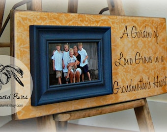 GIFT For GRANDMA Personalized Picture Frame 8x20 Grandparents, Grandmother, MiMi, PaPa, Grandfather, Grandpa, Mothers Day, New Gandma