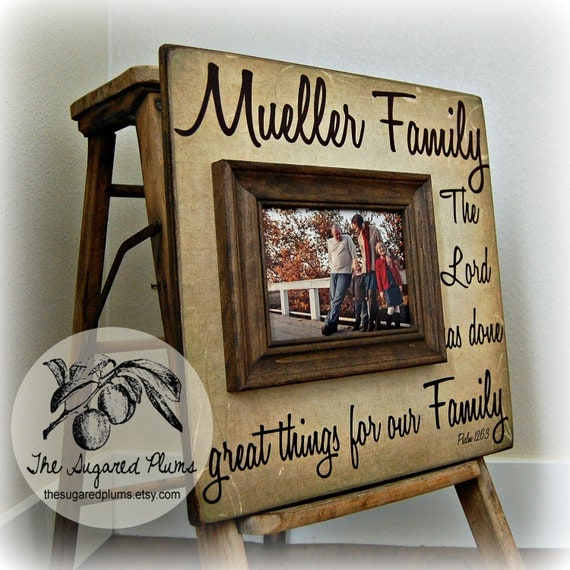 Personalized Family Name Sign Picture Frame Quote You