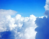 Up High in the Fluffy White Clouds Photography Print, Sky Wall Art, Surreal Photo