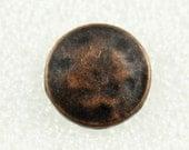 Wholesale - Retro Metal Buttons - 50 Pieces Of Minimalist Retro Copper Buttons. 1 inch