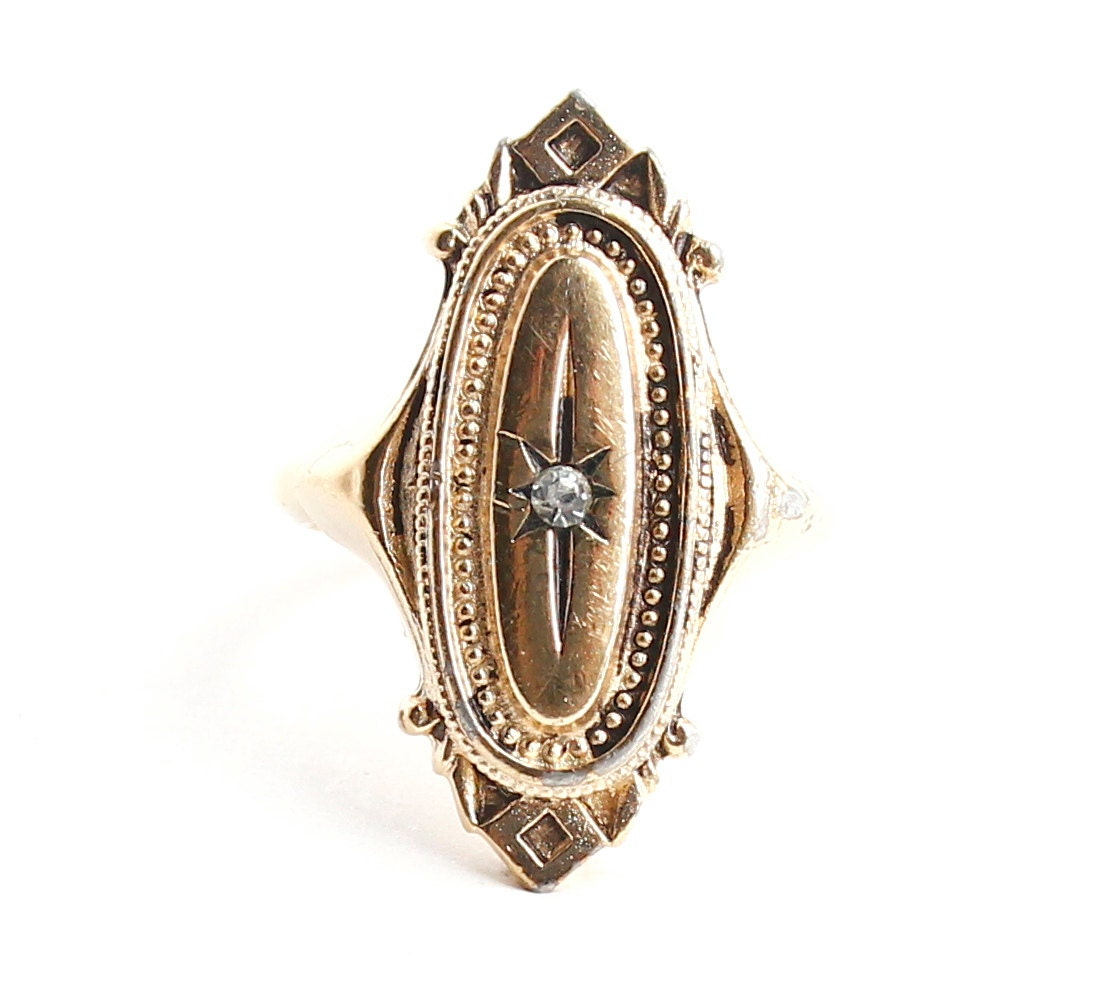 Vintage art deco style rhinestone ring by maejeanvintage for Art deco costume jewelry