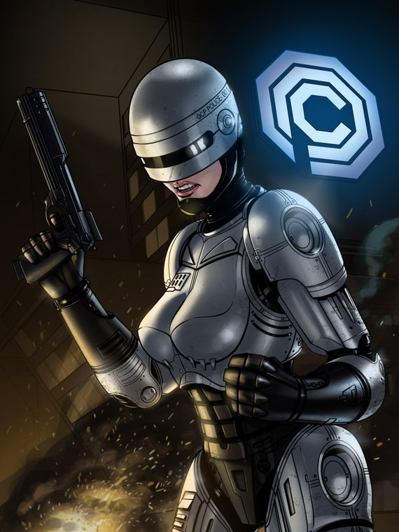 Items Similar To Femme Robocop On Etsy-3357