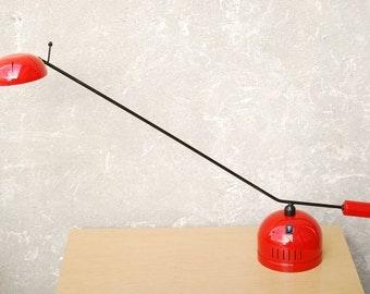 Vintage Red Stephano Cevoli Italian Desk Lamp