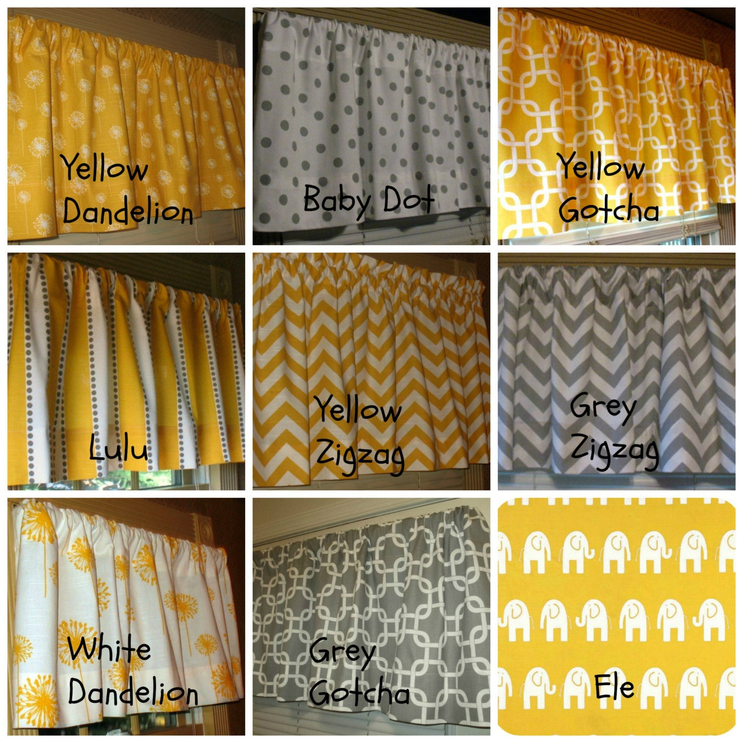 Yellow And Grey Kitchen Curtains Yellow and grey collection