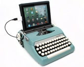 USB Typewriter Computer Keyboard -- Smith Corona Sterling -- 1960s Mad Men Style