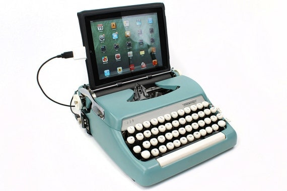 Smith Corona Sterling 1960s Mad Men Style USB Typewriter Computer Keyboard