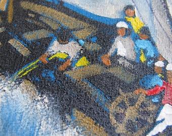 SALE Sailboat Racing on Blue Seas Handpainted Necktie