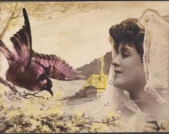 """Marguerite Brésil, Belle Epoque French Actress, """"Interspecial"""" Romance Image by Reutlinger"""