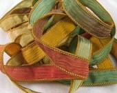 Silk Ribbon - Silk Crinkle Ribbon Bracelet Fairy Ribbon - Quintessence - Tuscany