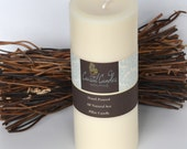 Soy Pillar Candle 3x7 Unscented Hand Poured