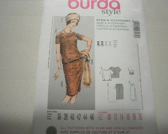 Pattern Ladies Vintage Style SKirt Top Hat Stole Sz 10 to 20 Burda 7175