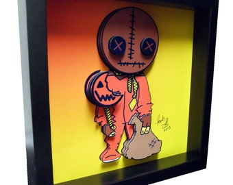 Trick r Treat Sam Horror Art Horror Movie Art 3D Pop Art Trick r Treat Halloween Poster 4D