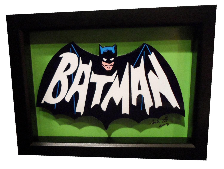 batman 1966 tv show logo bat symbol 3d pop art comic artwork. Black Bedroom Furniture Sets. Home Design Ideas