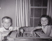 Kids Playing Chess -  Vintage Photograph (U)