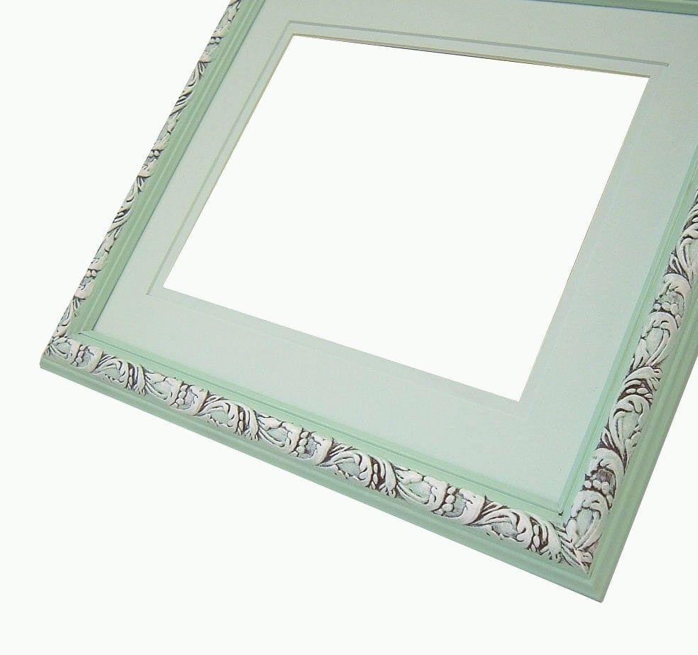 Shabby Chic Frame Pastel Mint Green Picture Frame 8x10 Wedding