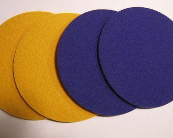Purple & Gold Coaster Set, Purple Gold Drink Coasters, Purple Gold Beverage Coasters