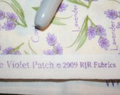 2 yards purple lavender floral fabric