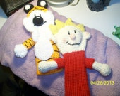 Crochet Hobbes Tiger and Calvin Golf Club Cover