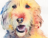 11x14  CUSTOM Dog Portrait original watercolor painting