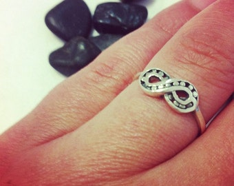Infinity Endless Love Infinity Symbol Infinite Power Ring Solid Sterling Silver Ring 925